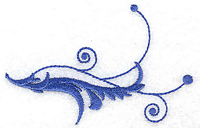 Embroidery Design: Fancy Baroque leaf swirl 3.50w X 2.26h