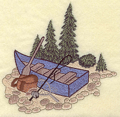 Embroidery Design: Fisherman's boat large 5.42w X 5.29h