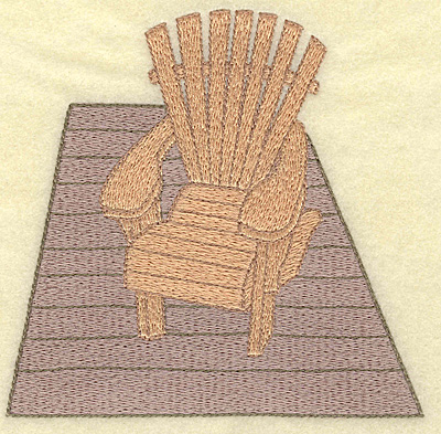 Embroidery Design: Adirondack chair large 4.95w X 4.82h