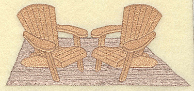 Embroidery Design: Adirondack chairs large 6.98w X 3.10h