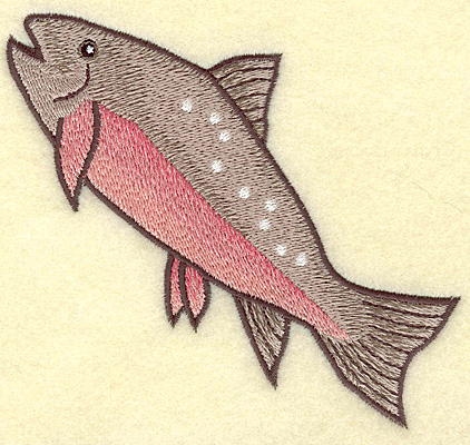 Embroidery Design: Fish A large 4.99w X 4.60h