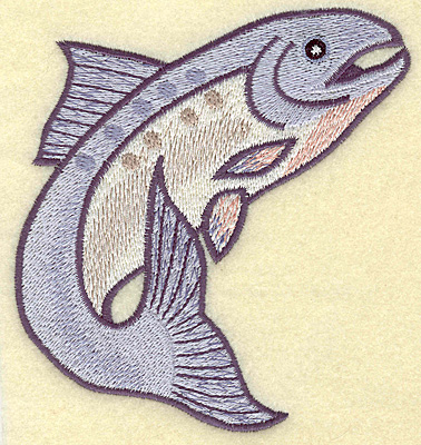 Embroidery Design: Fish B large 4.53w X 4.87h