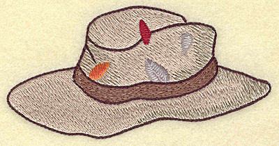 Embroidery Design: Fisherman's hat large 4.85w X 2.44h