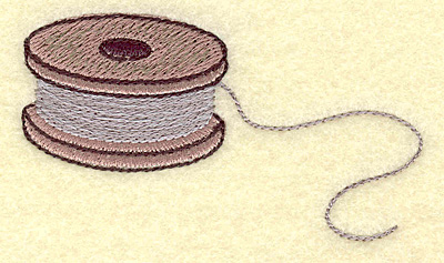 Embroidery Design: Fishing spool small 3.60w X 1.95h