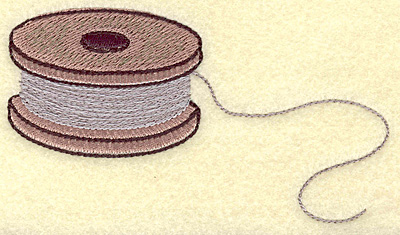 Embroidery Design: Fishing spool large 5.00w X 2.71h