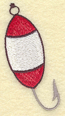 Embroidery Design: Fishing lure A small 1.56w X 3.16h