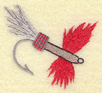 Embroidery Design: Fishing lure C small 3.01w X 2.73h