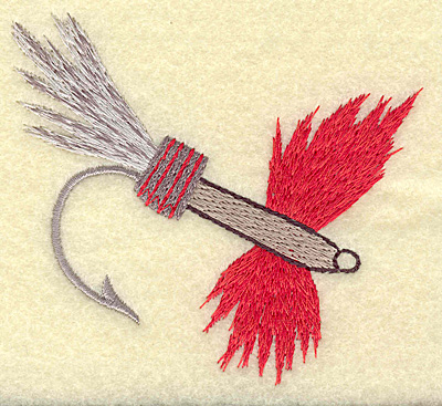 Embroidery Design: Fishing lure C large 3.91w X 3.55h