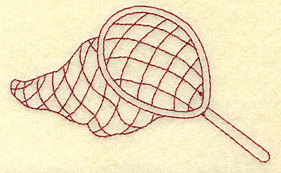 Embroidery Design: Fishing net redwork 3.87w X 2.30h