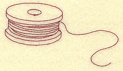 Embroidery Design: Fishing spool redwork 3.87w X 2.08h