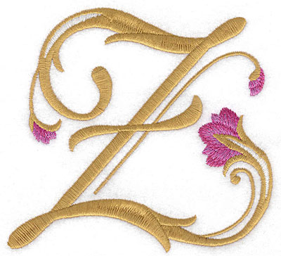 Embroidery Design: Z Floral large 5.03w X 4.69h