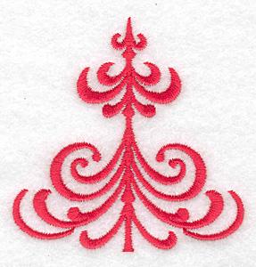 Embroidery Design: Christmas tree stylized  2.98w X 3.00h