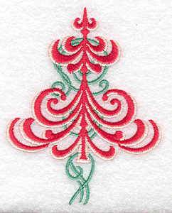 Embroidery Design: Christmas tree embellished small 3.01w X 3.82h