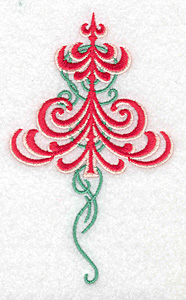 Embroidery Design: Christmas tree embellished large 3.01w X 4.96h