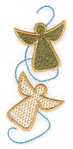 Embroidery Design: Angel duo 1.55w X 3.74h