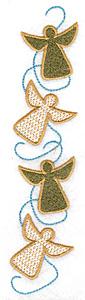 Embroidery Design: Angel row 1.55w X 6.99h
