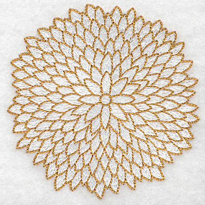 Embroidery Design: Christmas flower 3.85w X 3.86h