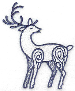 Embroidery Design: Reindeer 3.14w X 3.89h