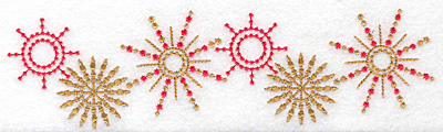 Embroidery Design: Star border 7.55w X 2.08h