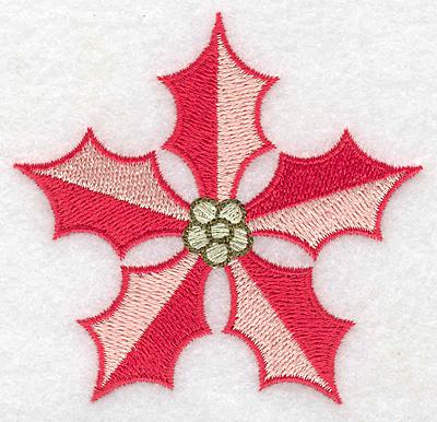 Embroidery Design: Poinsetta 3.16w X 3.03h