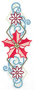 Embroidery Design: Poinsetta motif large 2.45w X 6.91h