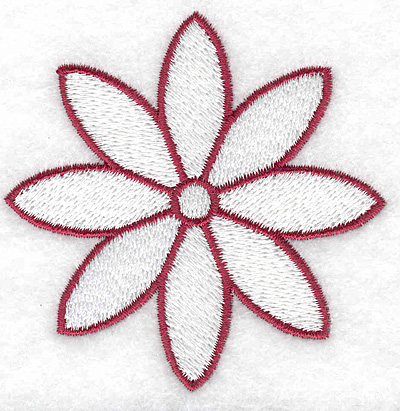 Embroidery Design: Flower 3.02w X 3.01h