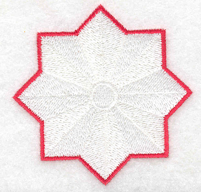 Embroidery Design: Stylized star 2.98w X 2.98h
