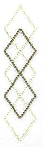 Embroidery Design: Diamond pattern 1.24w X 4.94h