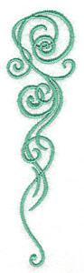 Embroidery Design: Swirls 1.36w X 4.98h