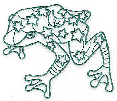 Embroidery Design: Frog 1 large 4.56w X 3.88h