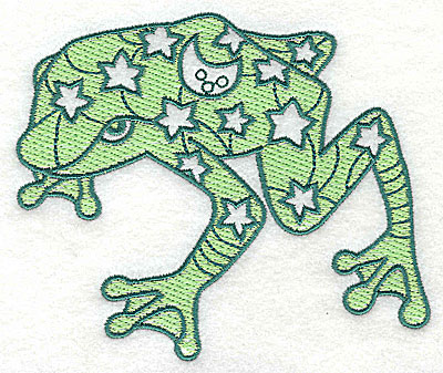 Embroidery Design: Frog 1 with solid fill 4.56w X 3.88h