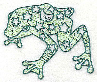 Embroidery Design: Frog 1 with motif fill 4.56w X 3.88h