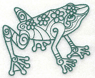 Embroidery Design: Frog 2 small 3.50w X 2.94h