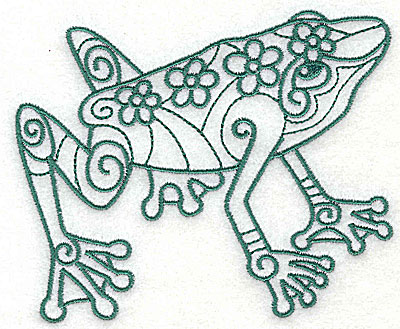 Embroidery Design: Frog 2 large 4.56w X 3.88h