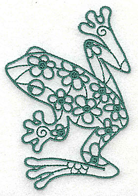 Embroidery Design: Frog 3 small 2.56w X 3.75h