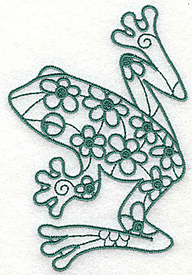 Embroidery Design: Frog 3 large 3.31w X 4.88h