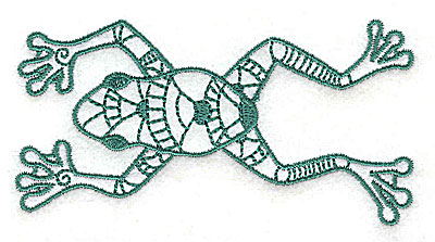 Embroidery Design: Frog 4 small 3.81w X 2.06h