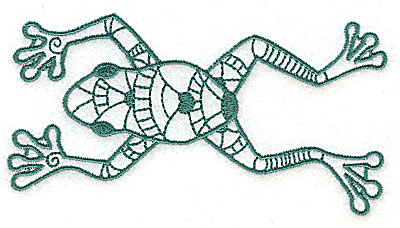 Embroidery Design: Frog 4 large 4.88w X 2.63h