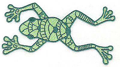 Embroidery Design: Frog 4 with solid fill 4.88w X 2.63h