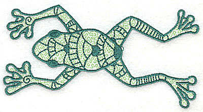 Embroidery Design: Frog 4 with motif fill 4.88w X 2.63h