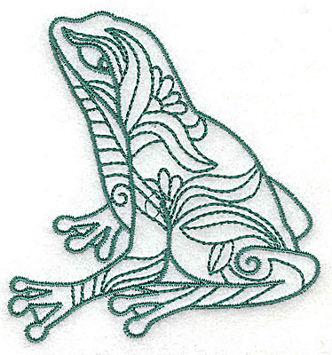 Embroidery Design: Frog 5 small 3.31w X 3.50h