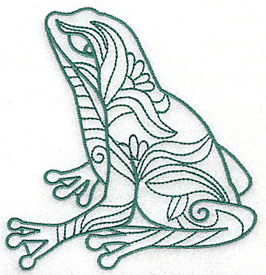 Embroidery Design: Frog 5 large 4.25w X 4.56h
