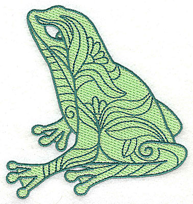 Embroidery Design: Frog 5 with solid fill 4.25w X 4.56h