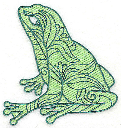 Embroidery Design: Frog 5 with motif fill 4.25w X 4.56h