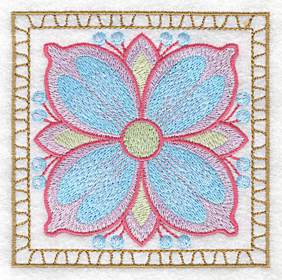 Embroidery Design: Flower 1 small 3.86w X 3.86h