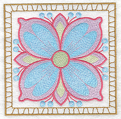 Embroidery Design: Flower 2 large 4.94w X 4.94h