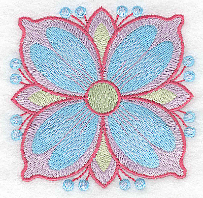 Embroidery Design: Flower only 1 3.26w X 3.26h