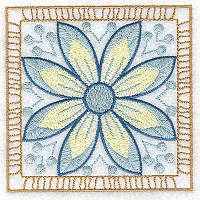 Embroidery Design: Flower 2 small 3.86w X 3.86h