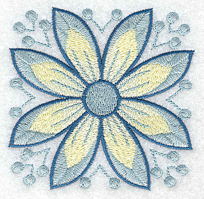 Embroidery Design: Flower only 2 3.23w X 3.23h