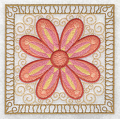 Embroidery Design: Flower 3 small 3.86w X 3.86h